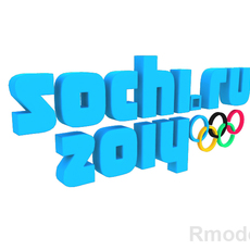 Olympic Games Sochi 2014 3d Logo  3D Model