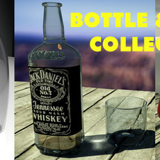 Bottle & Glas Collection 3D Model
