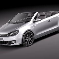 Volkswagen Golf Cabriolet 2012 3D Model