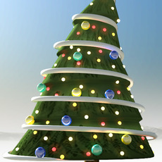 illustrative christmas tree 3D Model