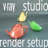 Professional Studio Light & Scene setup for V-Ray 3D Model