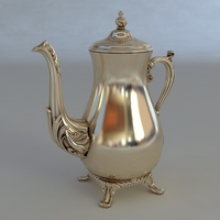 Silver Beverage Pot 3D Model