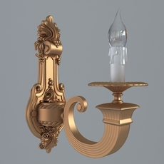 Antique Wall Sconce Light 3D Model
