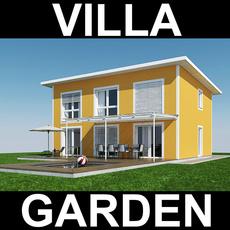 Villa with Garden 3D Model