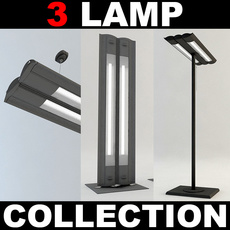 Office Lamp Collection 3D Model