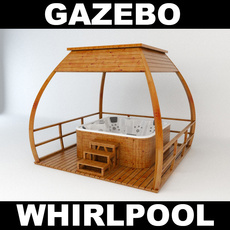 Whirlpool with Gazebo 3D Model