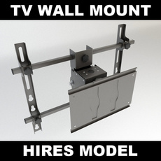 TV Wall Mount 2 3D Model