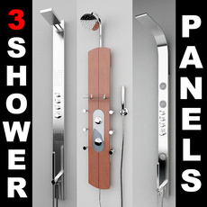 3 Shower Panels 3D Model
