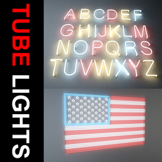 Tube Light Collection 3D Model