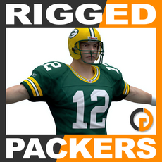 NFL Player Green Bay Packers Rigged 3D Model