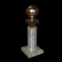 Golden globe award trophy 3D Model