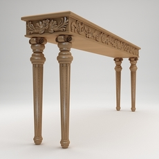 Classical style console table 3D Model