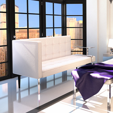 Settee contemporary style 3D Model