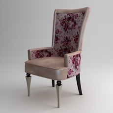 Armchair with flowers 3D Model