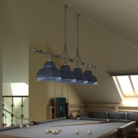 Billiard Table Light Fixture 3D Model