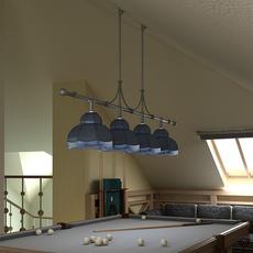 Billiard Table Light Fixture 3D Model