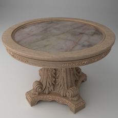 Elegant Ornate Round table 3D Model