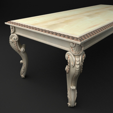 Baroque Table 3D Model