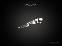 Jaguar 3d Logo 3D Model