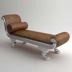 Chaise Bench Andrea Fanfani 3D Model