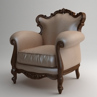Victorian Piermaria Armchair 3D Model