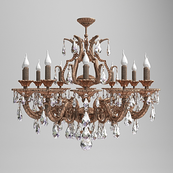 Milano ornate chandelier 3d model spinner big black aloadofball Gallery