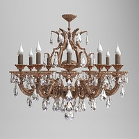 Milano Ornate Chandelier 3D Model