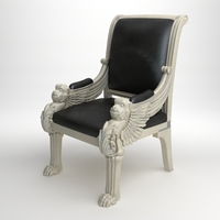 Royal leather armchair 3D Model