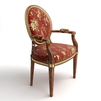 Brocade Armchair 3D Model