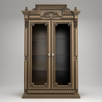 Antique Display Cabinet 3D Model