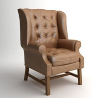 Traditional Wing Back Armchair 3D Model