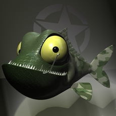 Veteran Fish RIGGED 3D Model