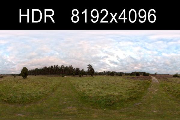 Field Path Cloudy 3 HDRI Environment (high res)