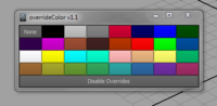 Override Color 1.1.0 for Maya (maya script)