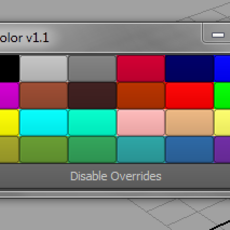 Override Color for Maya 1.1.0 (maya script)