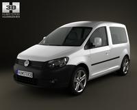 Volkswagen Caddy 2011 3D Model