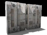 Sci-Fi Doors 3D Model