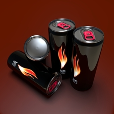 Energy Drink Burn 3D Model