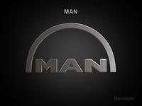 MAN 3d Logo 3D Model