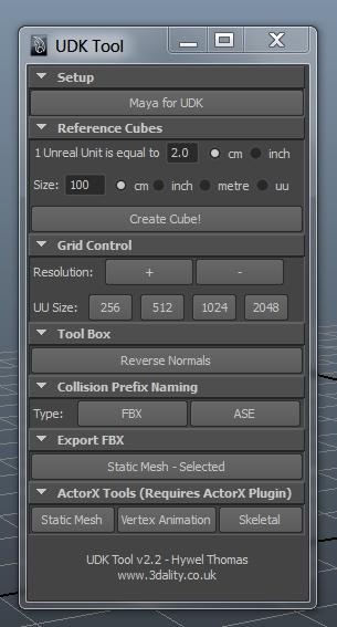 UDK Tool for Maya