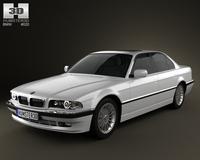 BMW 7 series e38 1998 3D Model