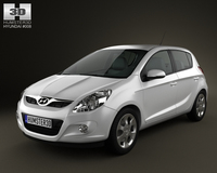 Hyundai i20 5door 2010 3D Model