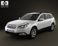 Subaru Outback US 2011 3D Model