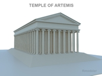 Artemis Temple 3D Model