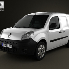 Renault Kangoo Van 2 Side Doors 2011 3D Model