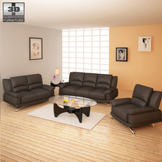 Living room furniture 09 Set 3D Model