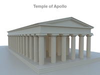 Temple of Apollo 3D Model