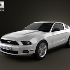Ford Mustang V6 2012 3D Model