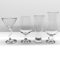 Glass pack 20 pcs 3D Model