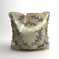 Brocade Decorative Pillow Photoreal 3D Model